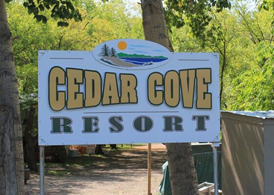 Cedar Cove Resort Sign